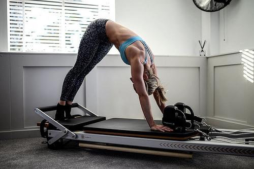 Reformer Pilates Photography - Elephant Exercise