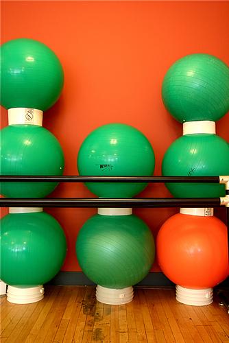 Balance Exercise Balls 7-3-09 2