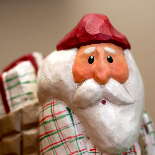 Christmas decorations - Santa caught without a coffee
