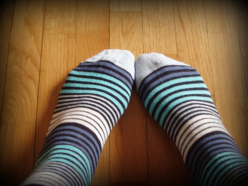 calzini a righe